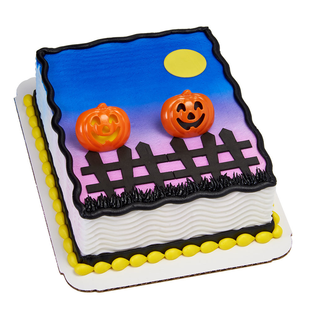 Pumpkin Patch 1/8 Sheet Cake Design