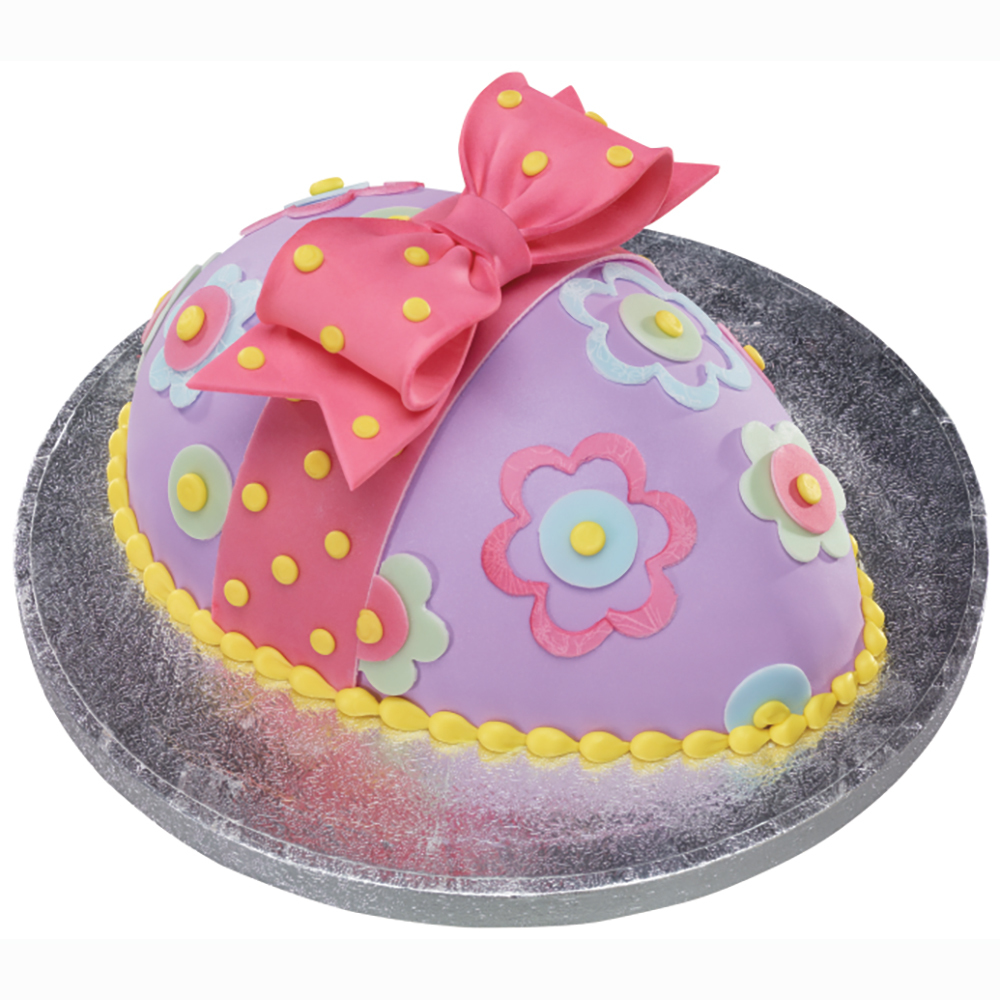 Purple Flower Easter Egg Cake Design