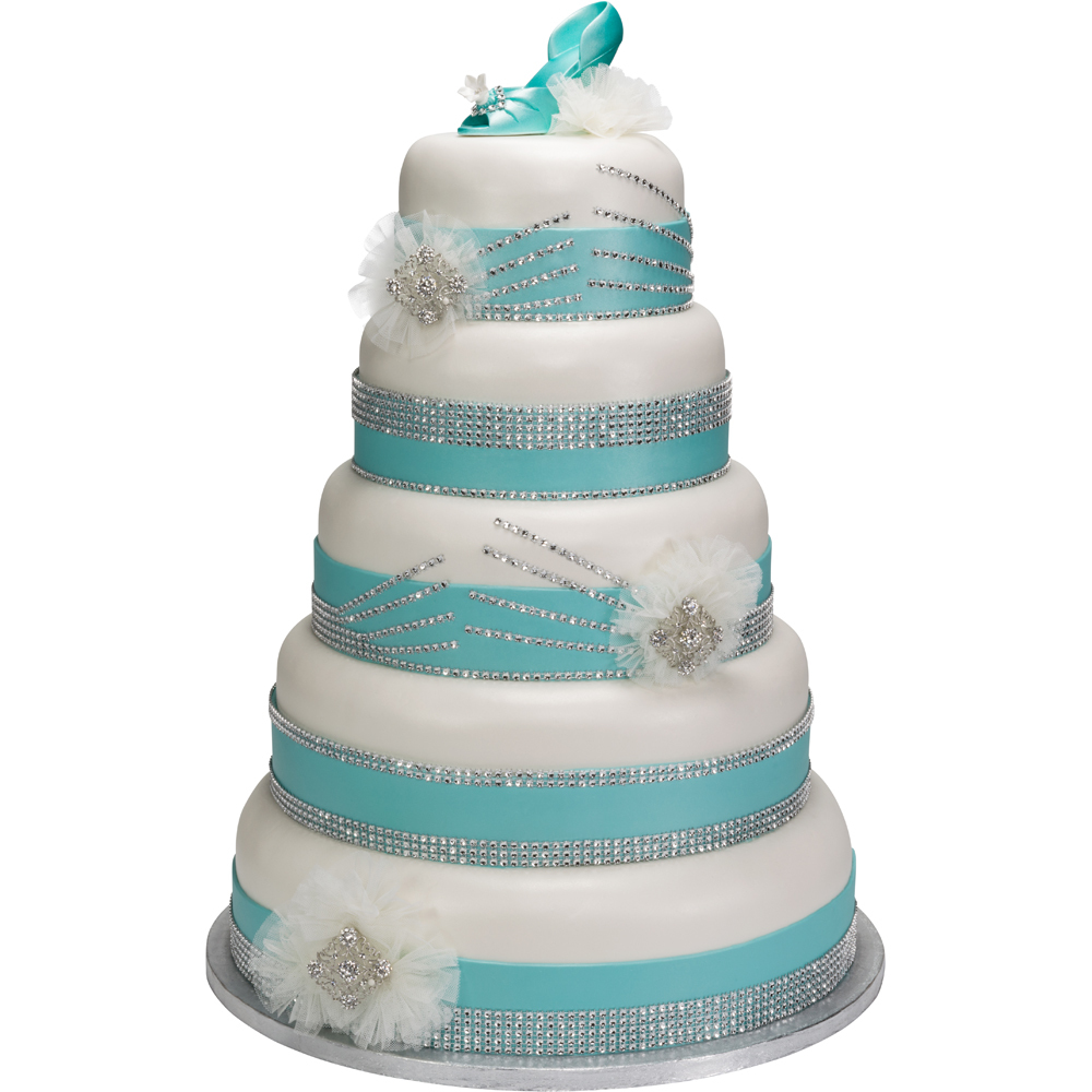 Quinceanera Bling Stacked Cake Design