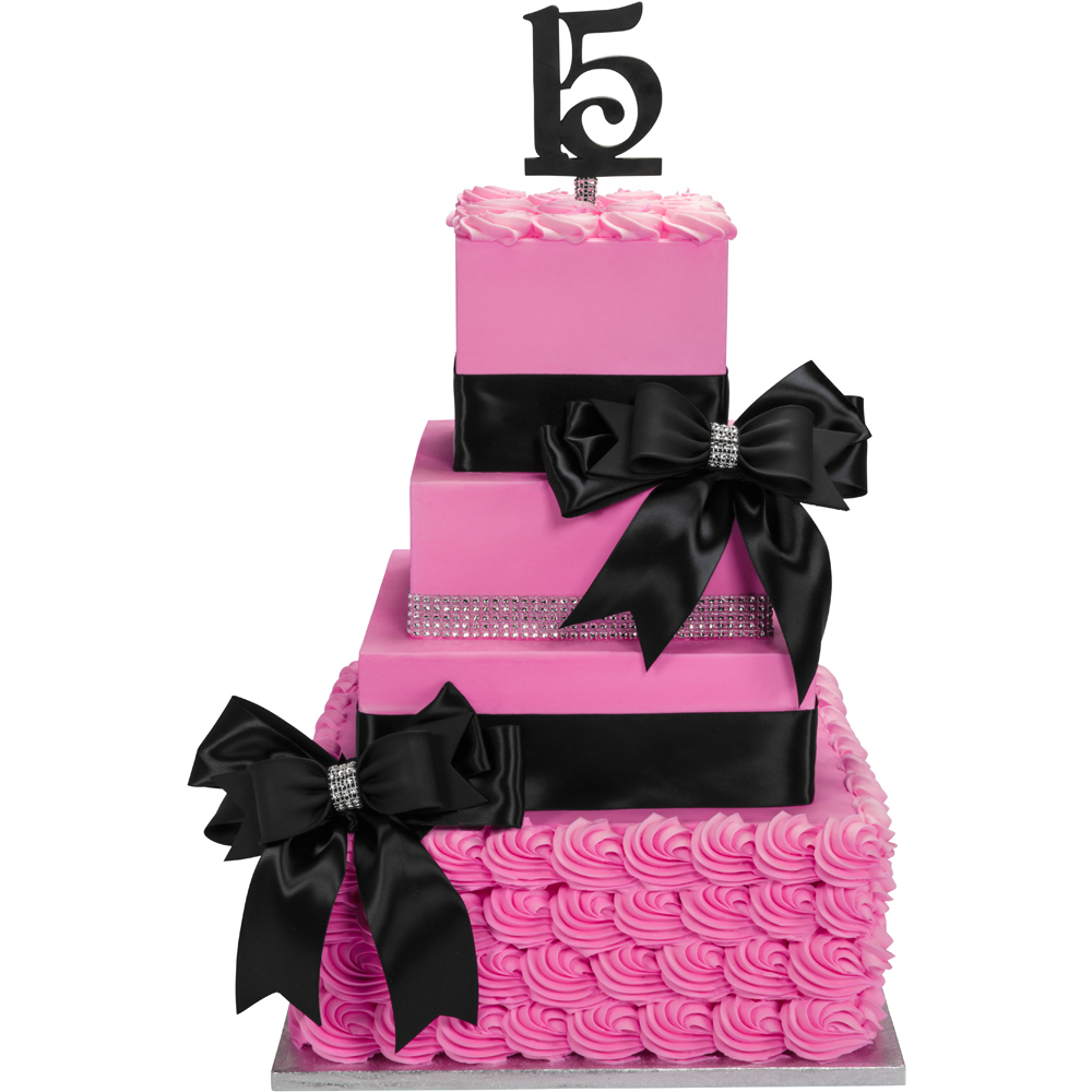 Quinceanera Contemporary Stacked Cake Design