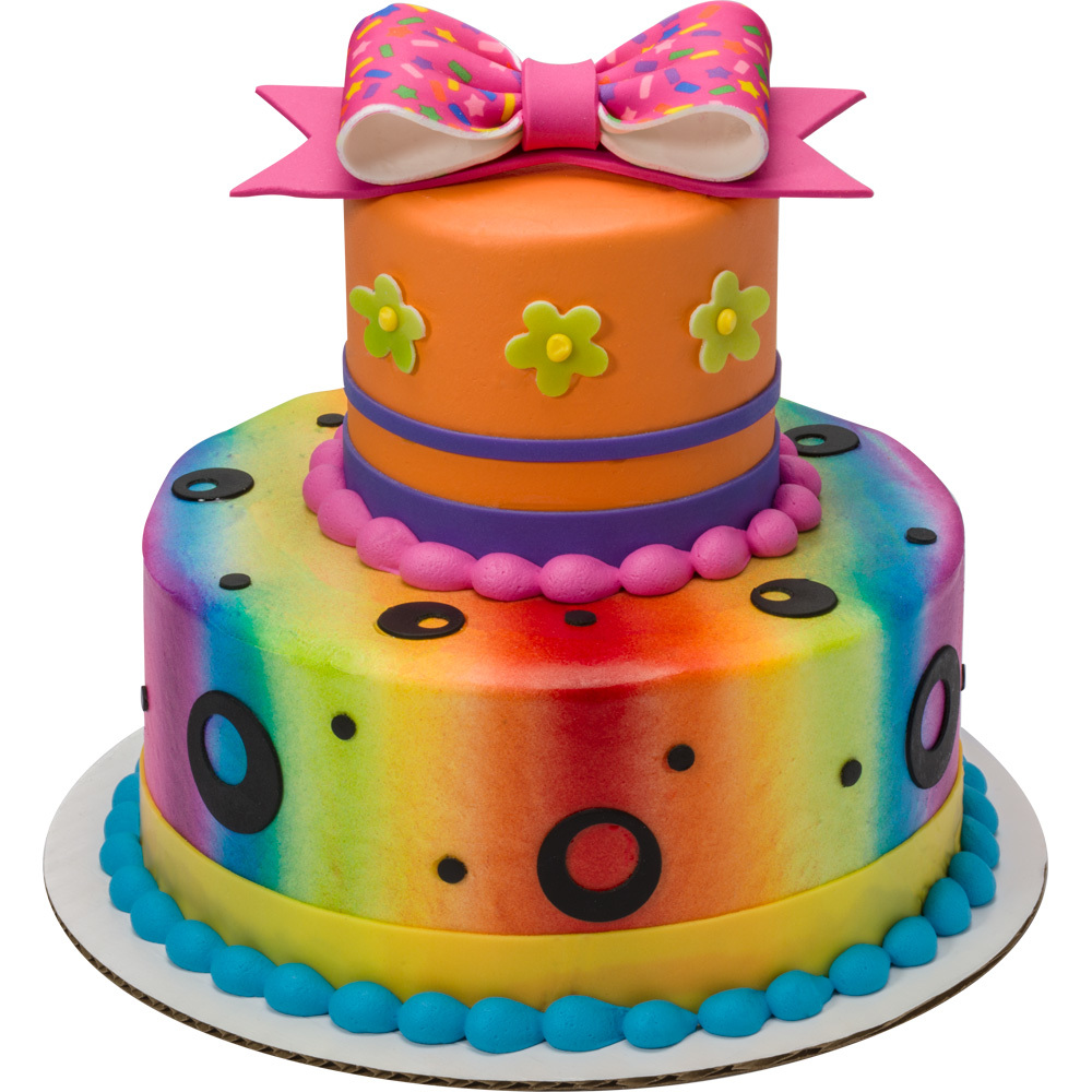 Rainbow Round Stacked Cake
