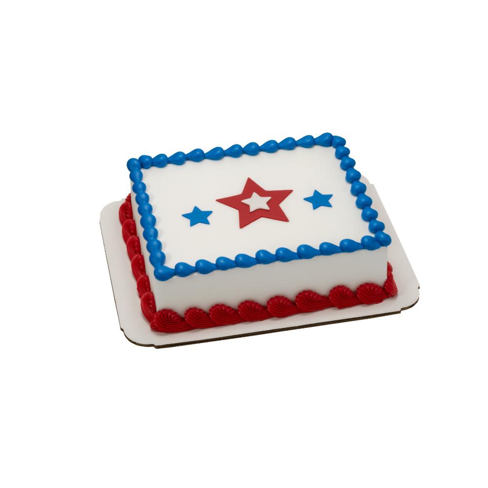 Red White Blue Star Decoshapes 18 Sheet Cake Decopac