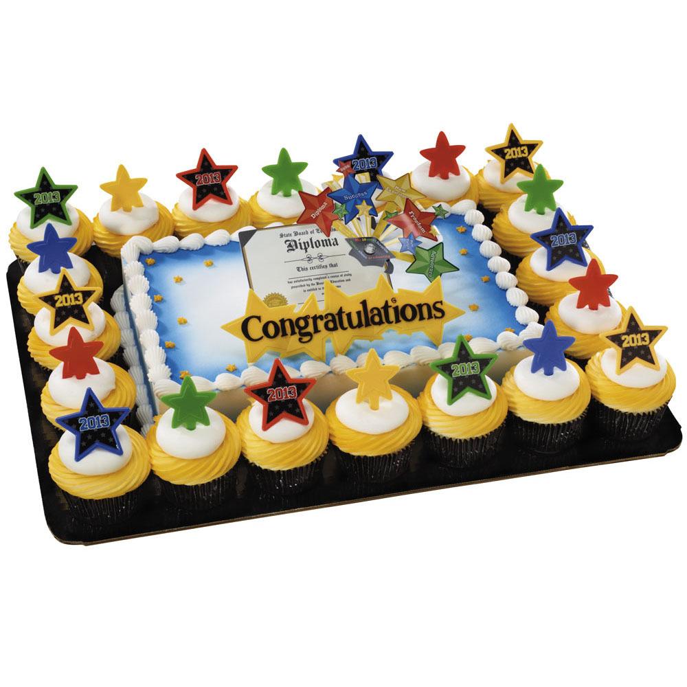 Bright Star Diploma & Congrats Layon Cupcake Combo