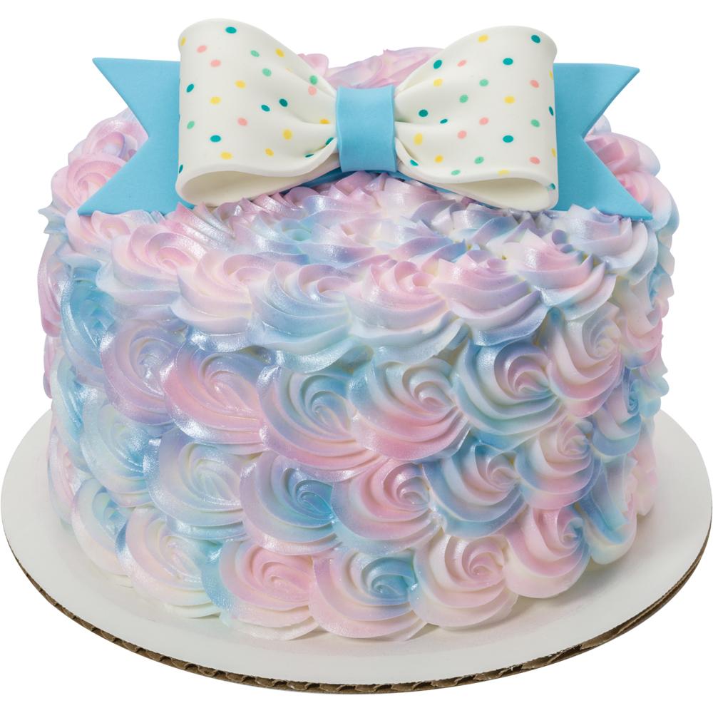 Rosette Baby Gum Paste Bow Cake