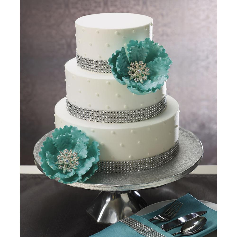 Royal Peony Wedding Cake Design