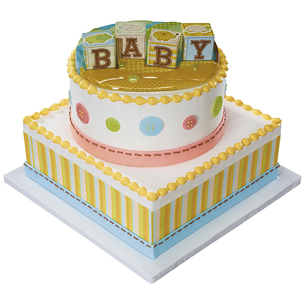 Safari Babies Decoset Baby Shower Cake Decopac