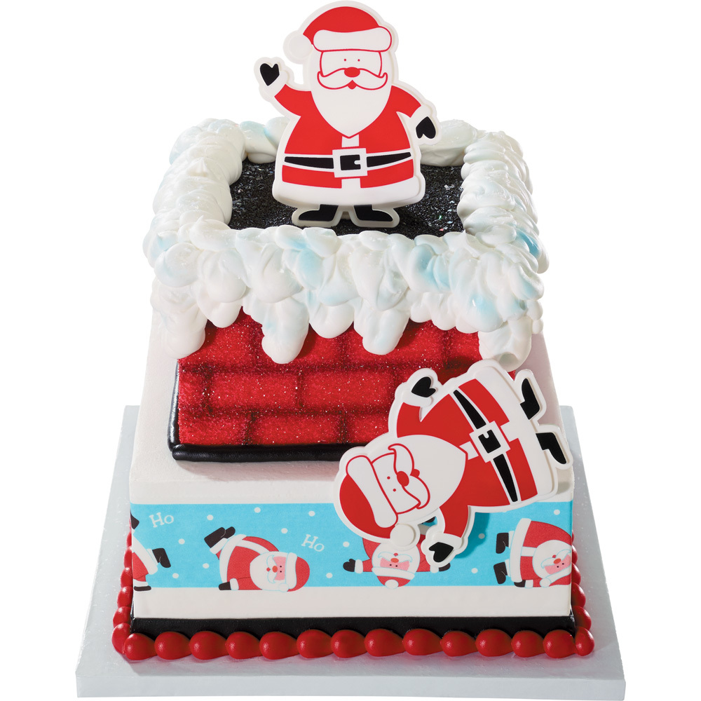 Santa Chimney Cake Decorations