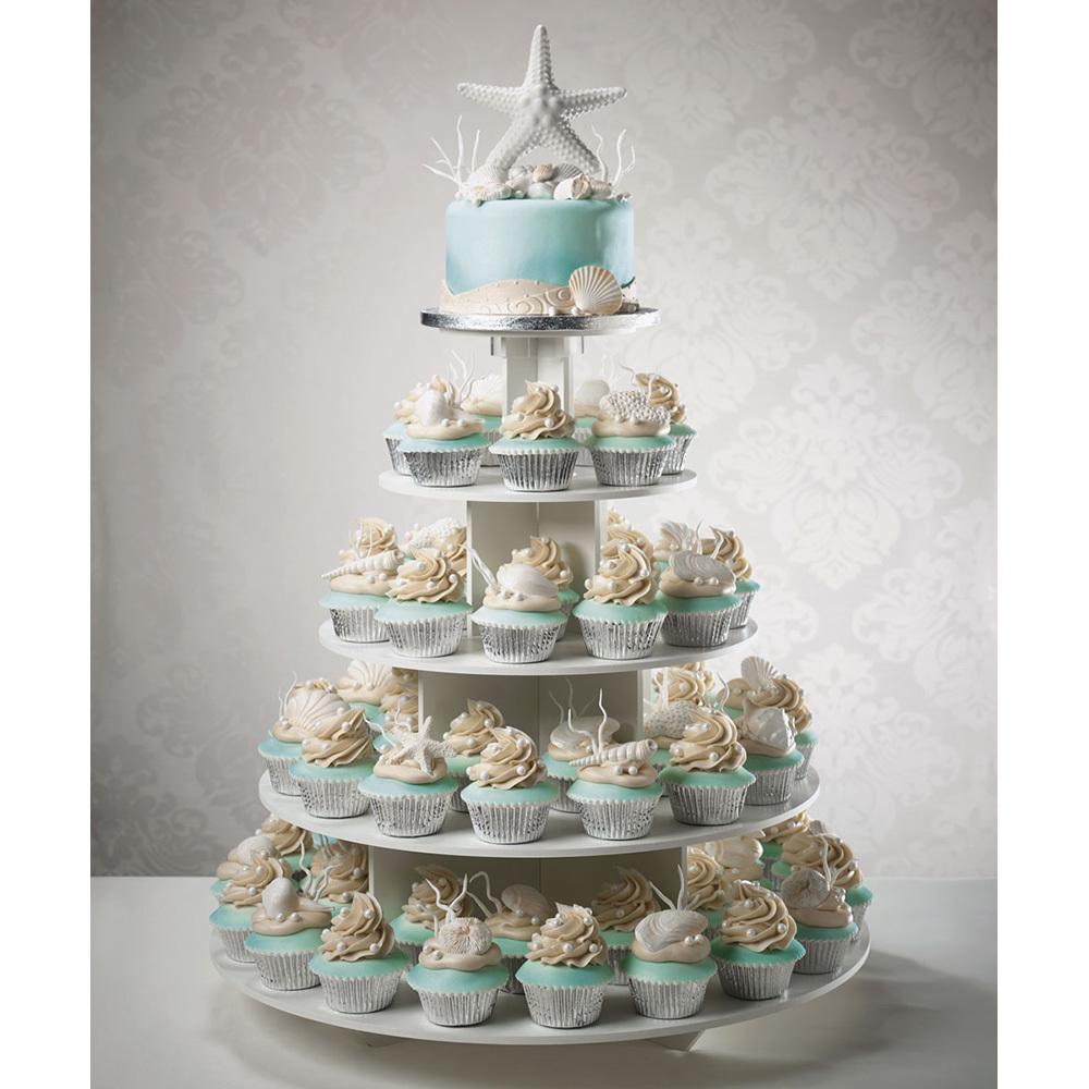 Wedding Cupcake Decorating Ideas: Seashells Wedding Cupcake Tier