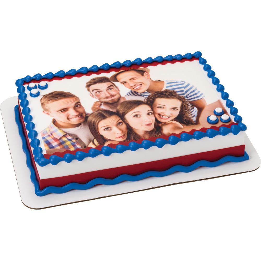 Selfie Group Shot PhotoCake® Cake Design