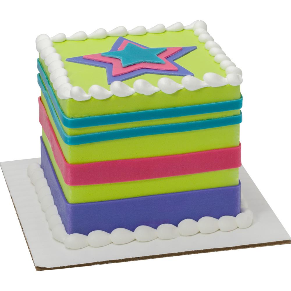Shining Star Square Cake Design