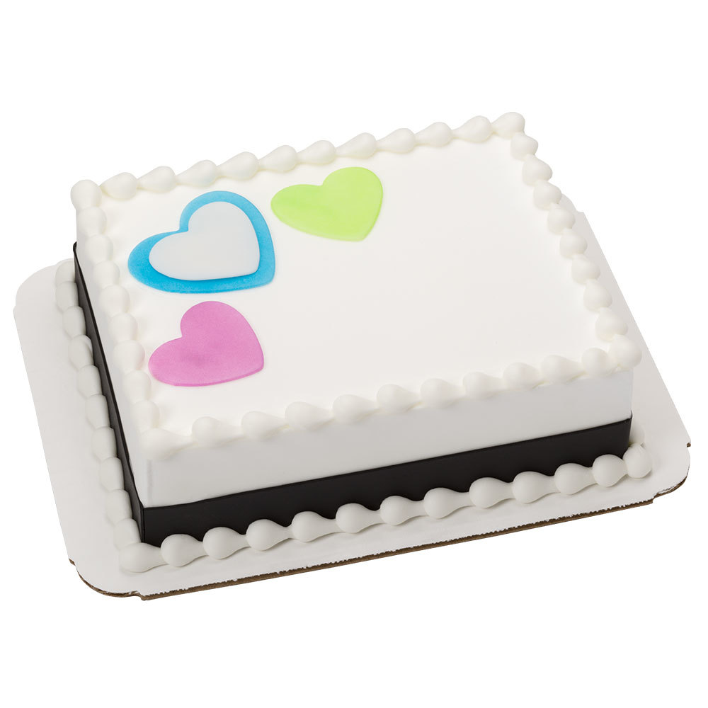Simply Sweet Hearts DecoShapes 1/8 Sheet Cake