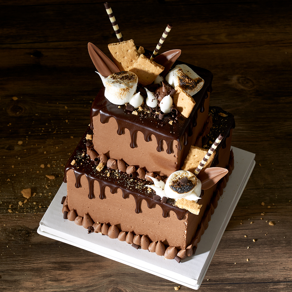 Smores Stacked Cake Design