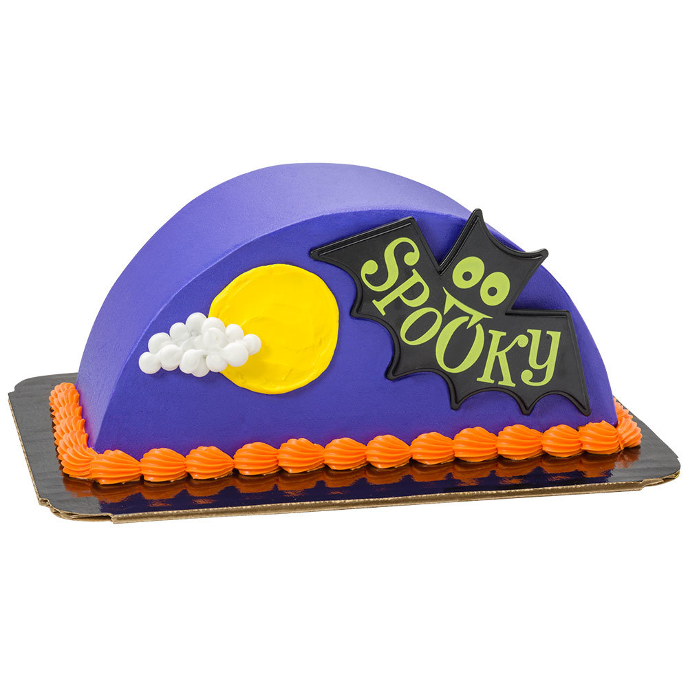 Spooky Bat Full Moon Cake Design