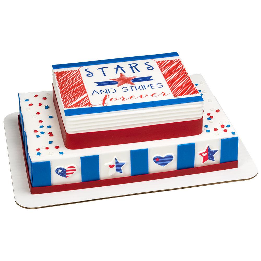 Stars & Stripes Stacked Cake