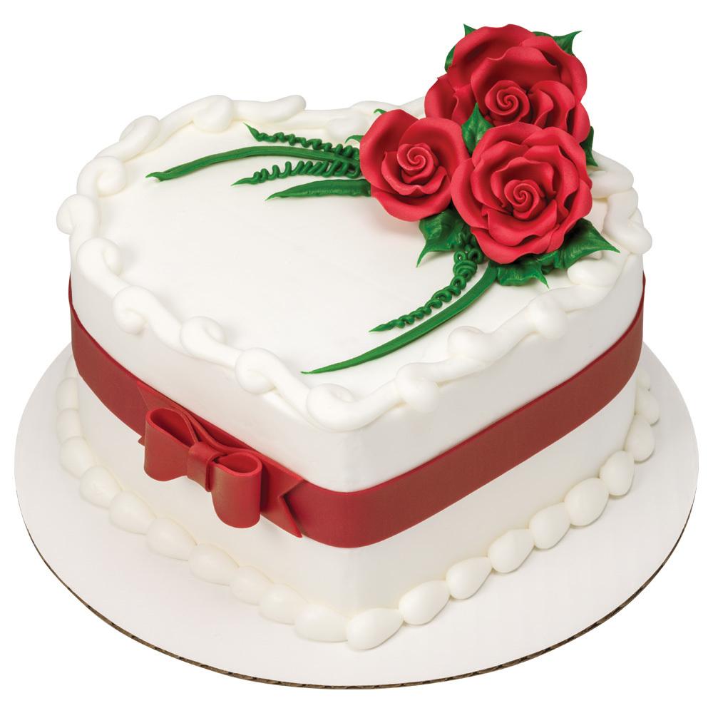 Sugarsoft Roses Heart Shaped Cake Decopac
