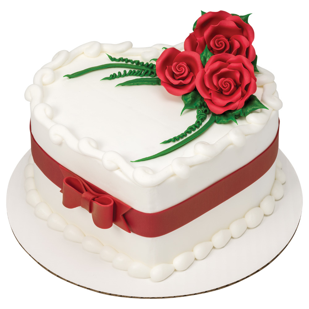 SugarSoft® Roses Heart-shaped Cake
