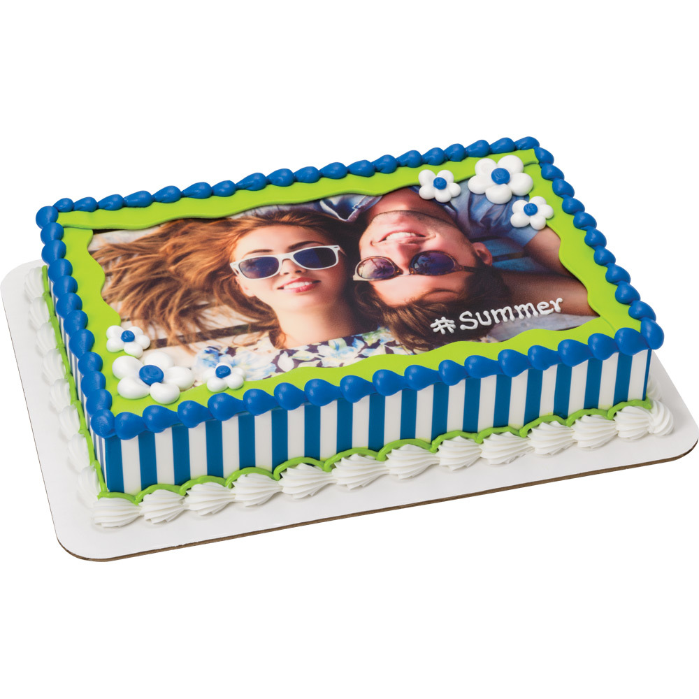 #Summer Couple PhotoCake® Cake Design