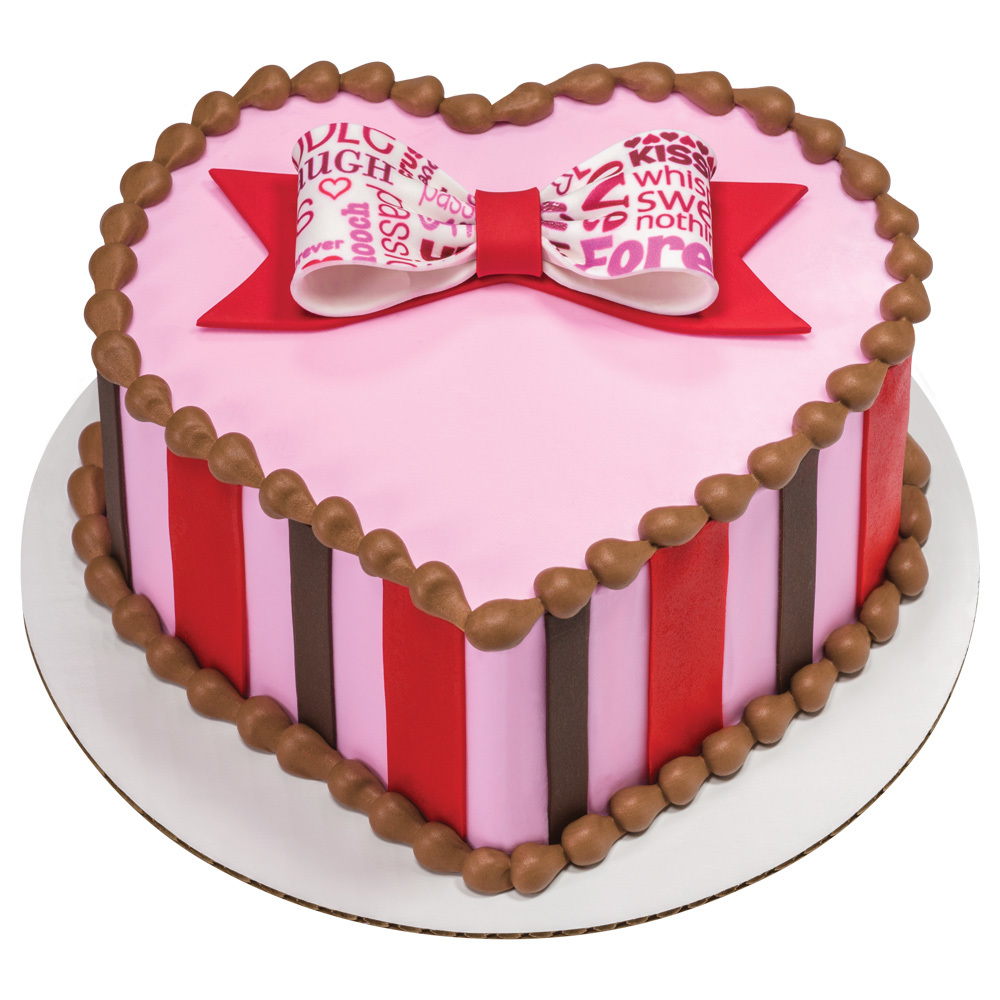 Sweetheart Bow Heart-shaped Cake