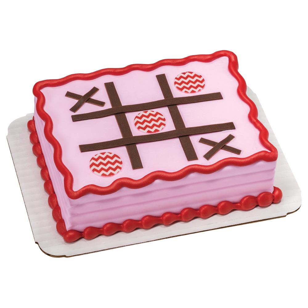 Tic Tac Love 1/8 Sheet Cake Design