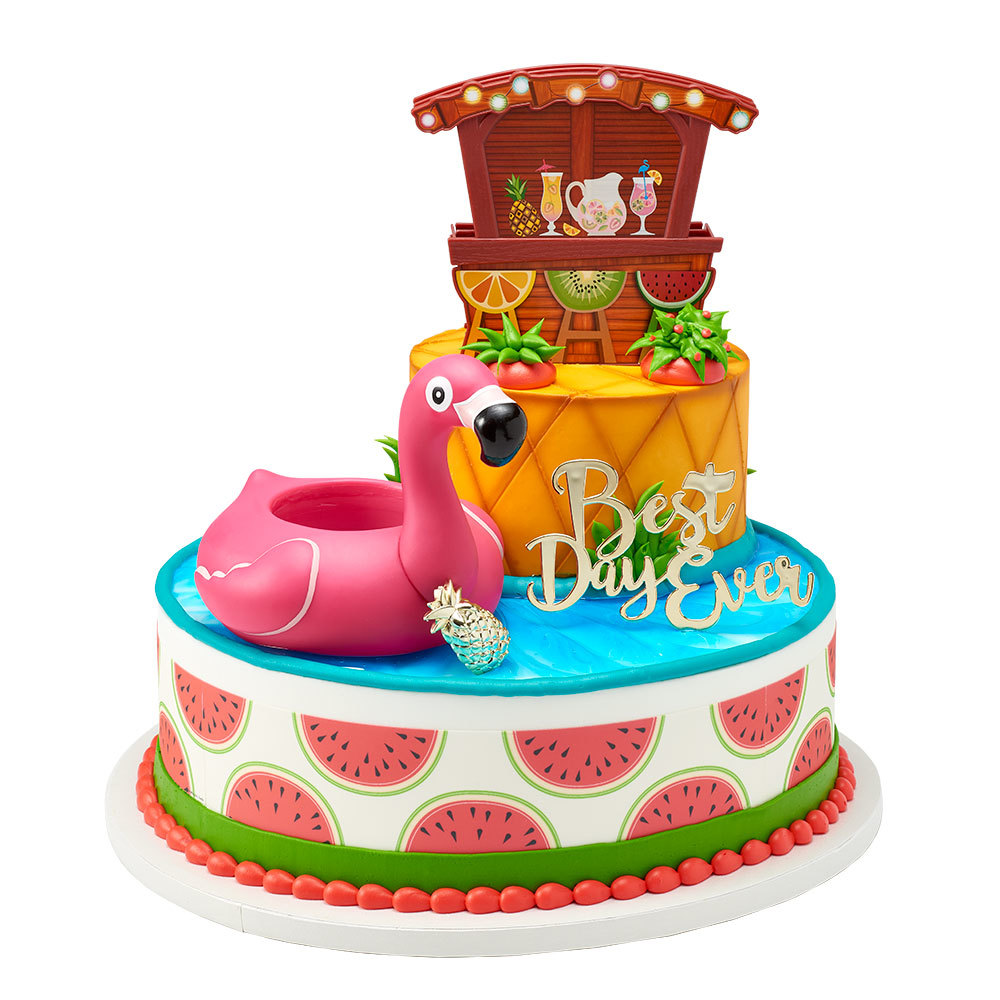 Tropical Party Cake Design