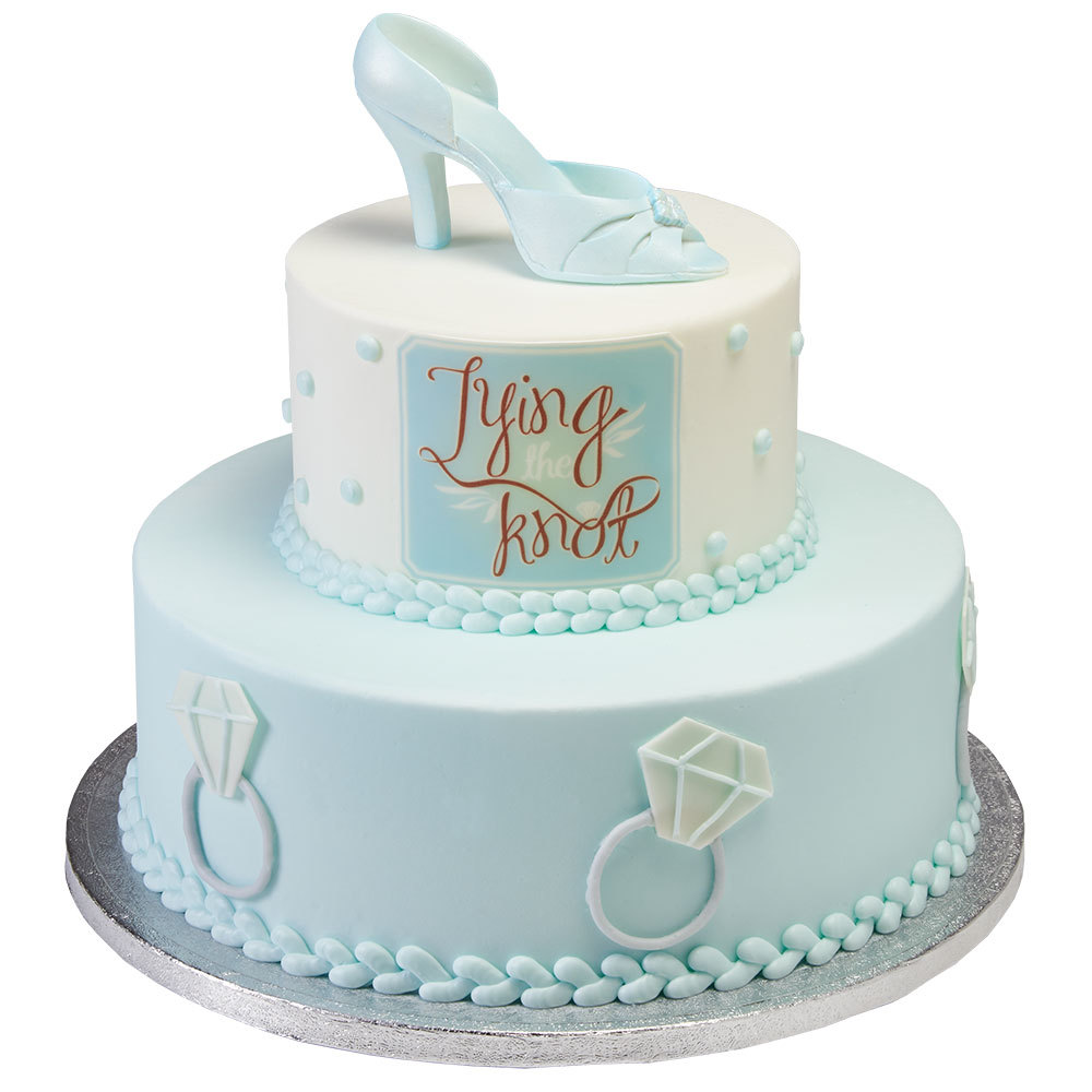 tying the knot bridal shower cake