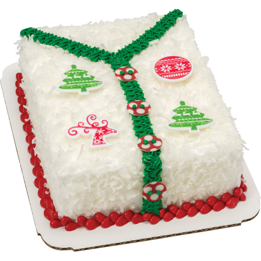 ugly sweater christmas cake