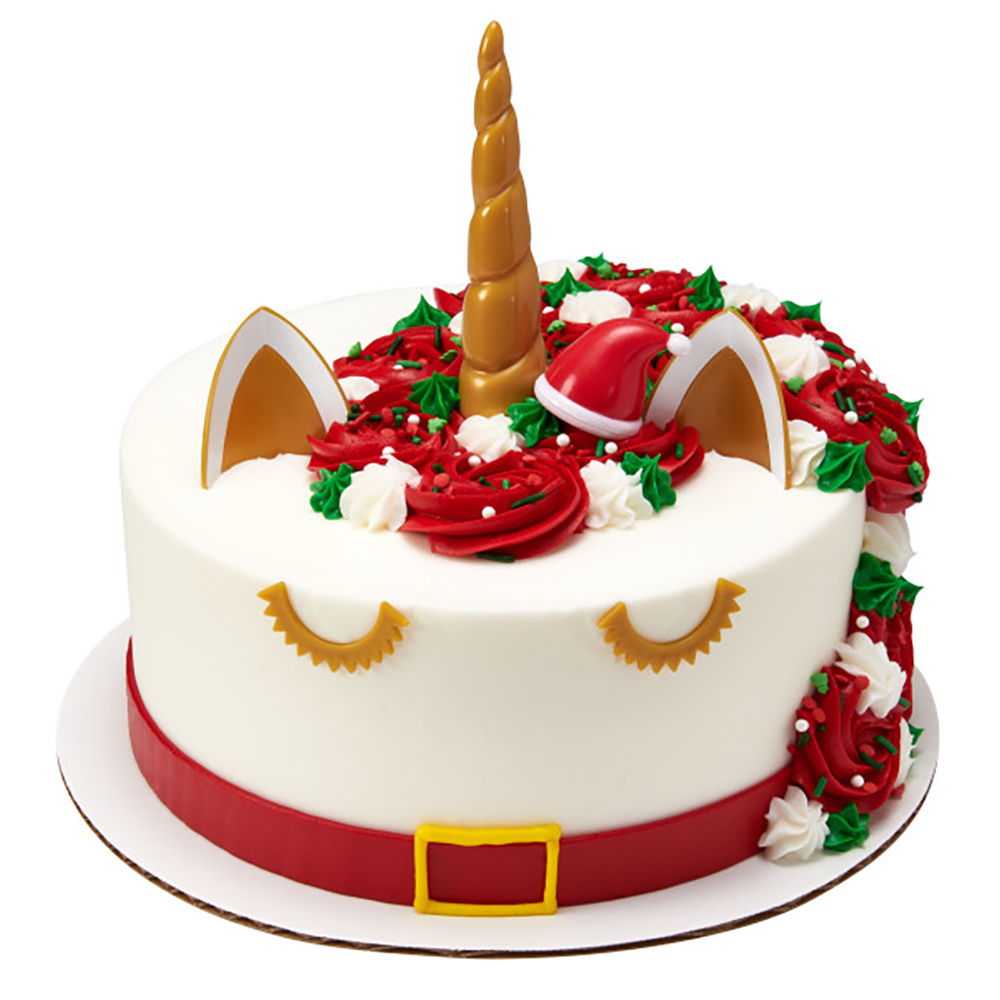 Unicorn Santa Cake Design
