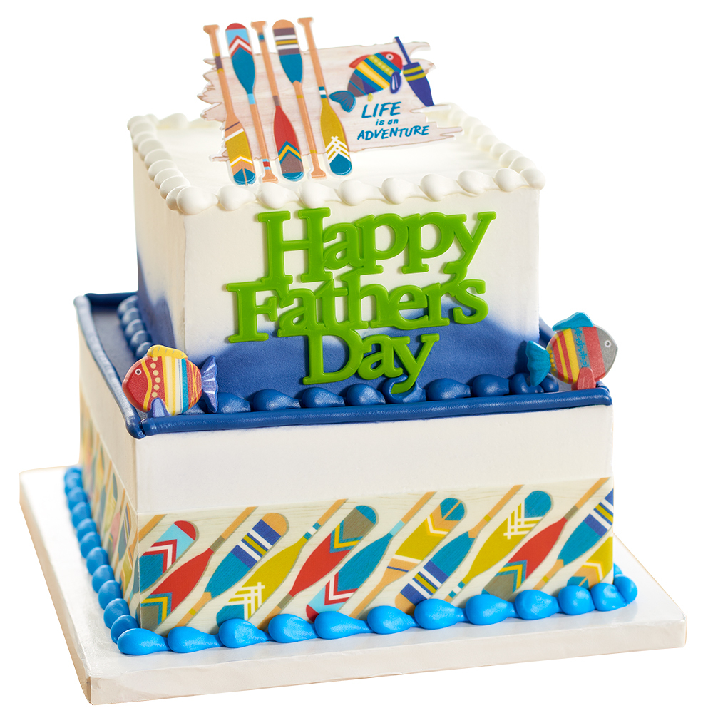 Father's day Urban Adventures Stacked Cake Design