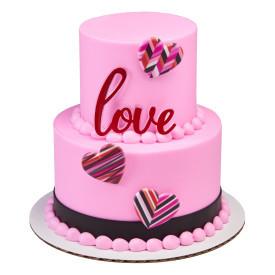 Valentine Affections Cake Design