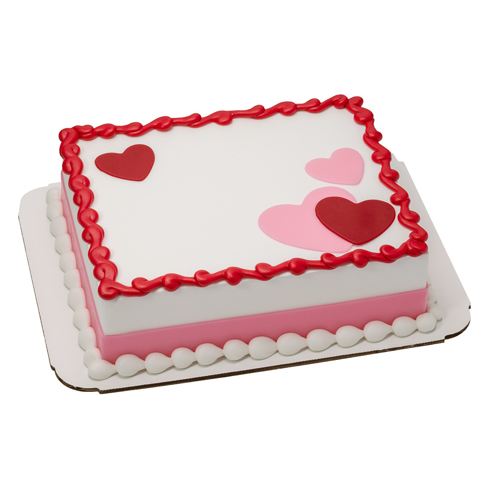 Valentine 1/8 Sheet Cake Design
