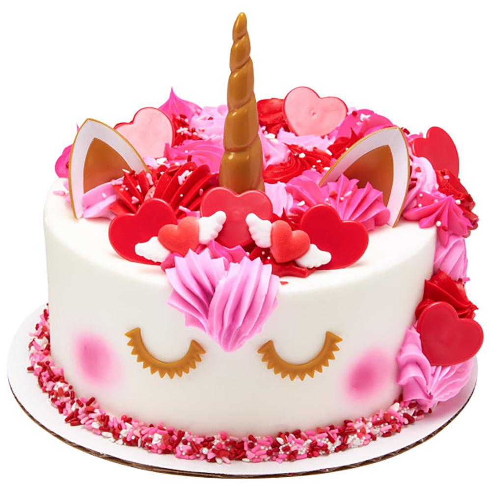Valentine Unicorn Cake Design
