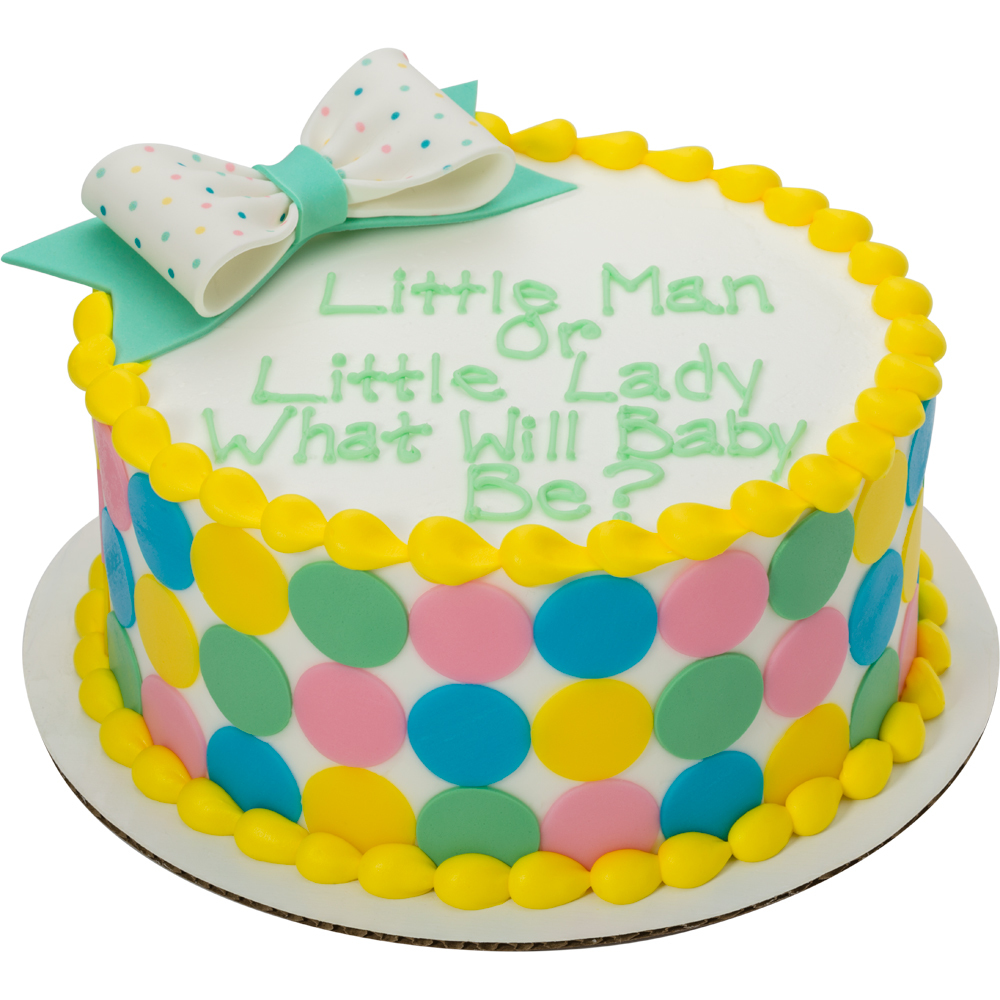 Welcome Baby Dot Gum Paste Bow Cake Design