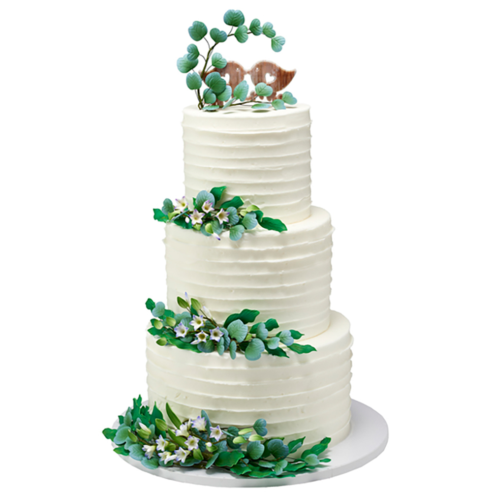 Whimisical Whispers Wedding Cake Design