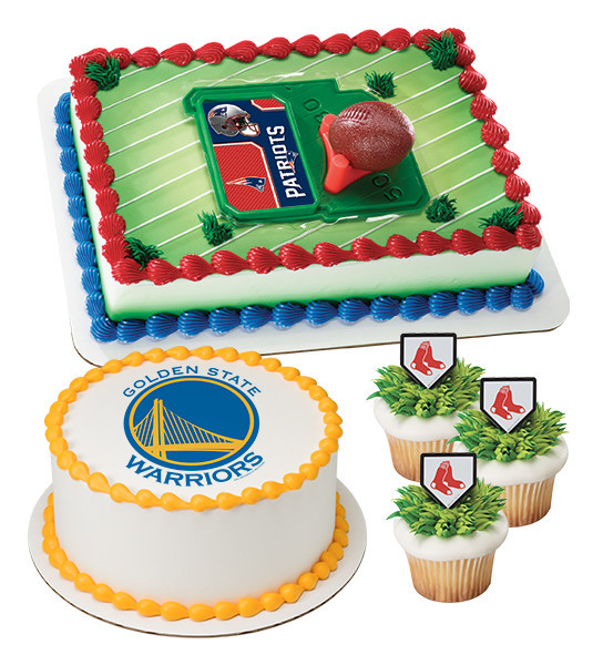 Professional Sports Team Cake Decorations