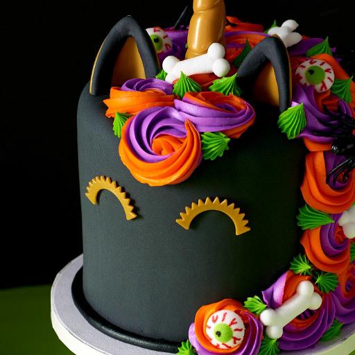 Halloween Unicorn Cake