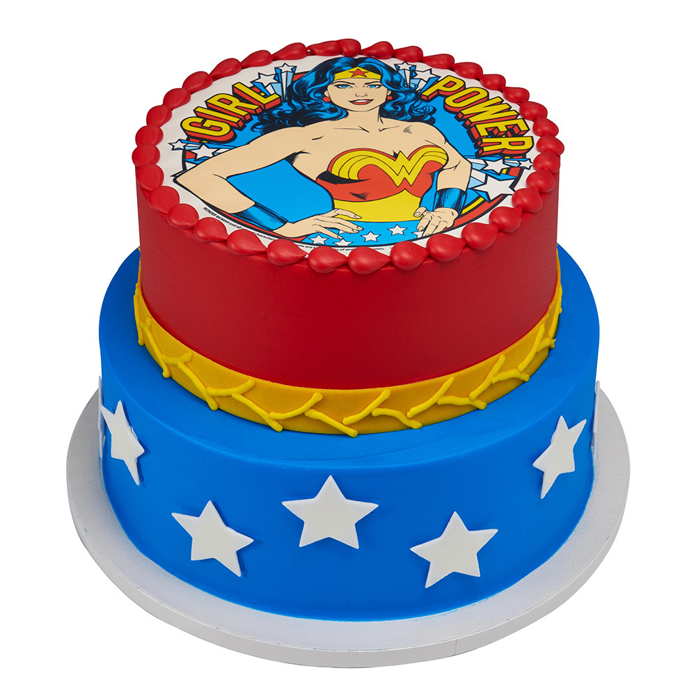 Wonder Woman PhotoCakeR Stacked Cake Design Decorations