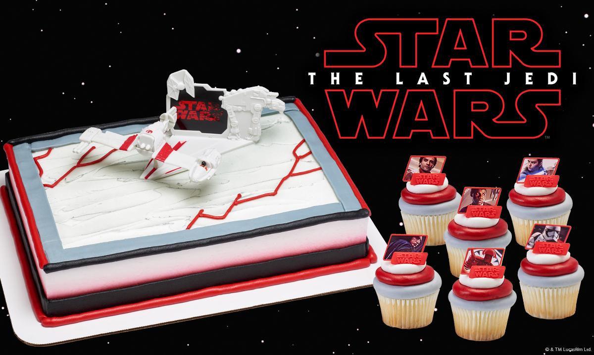 Star Wars Last Jedi Outline Facebook Post for Cake Decorations