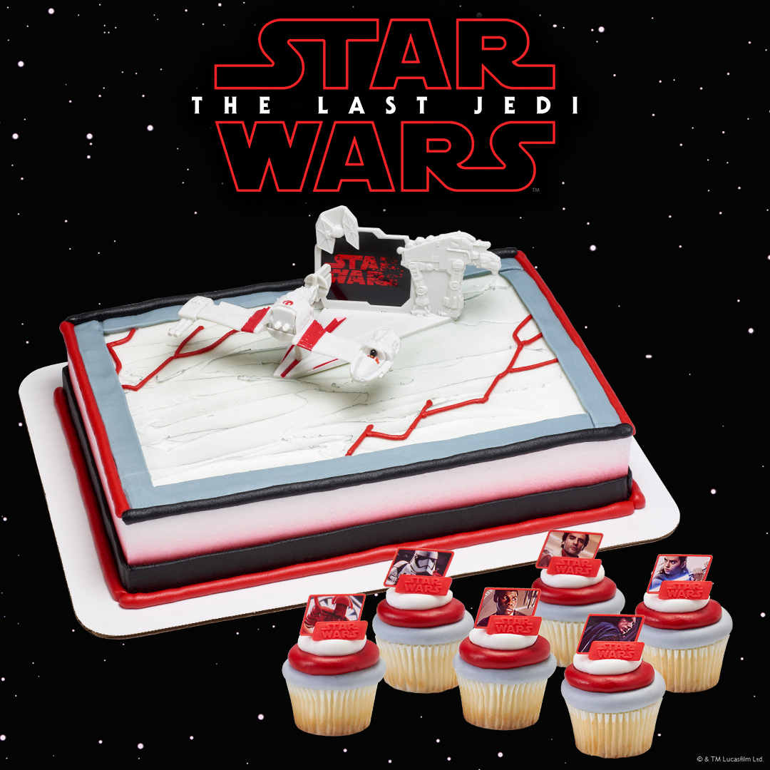 Star Wars Last Jedi Outlined Instagram Cake Decorations