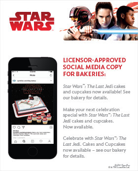 Star Wars Merchandising Social Copy for Cake Decorations