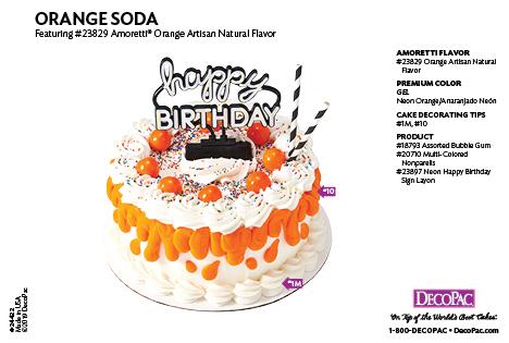 Amoretti Orange Flavor Cake Decorating Instruction Card