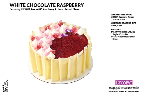 Amoretti Raspberry Flavor Cake Decorating Instruction Card