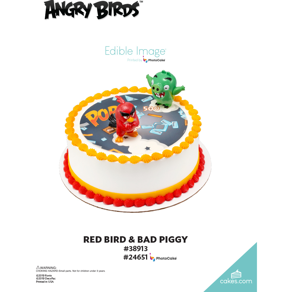 Angry Birds™ Red Bird & Bad Piggy The Magic of Cakes® Page