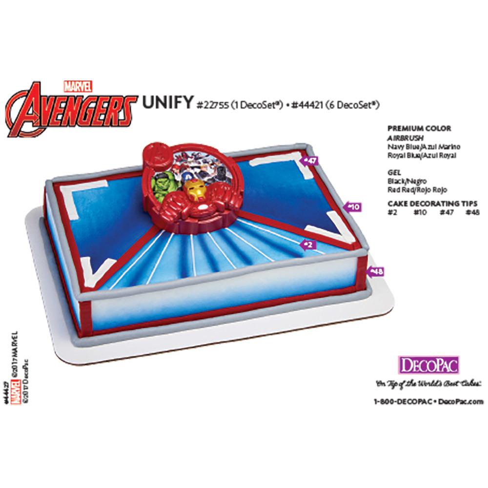 Avengers Classic Unify DecoSet® Cake Decorating Instruction Card