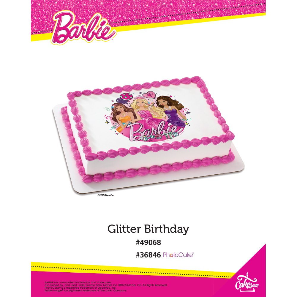 Barbie™ Glitter Birthday The Magic of Cakes® Page