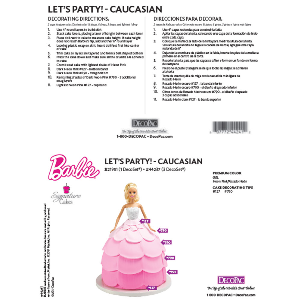 Barbie Doll Cake Decorating Instructions