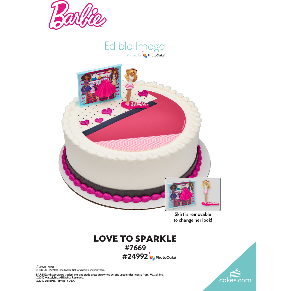 Barbie™ Love to Sparkle The Magic of Cakes® Page