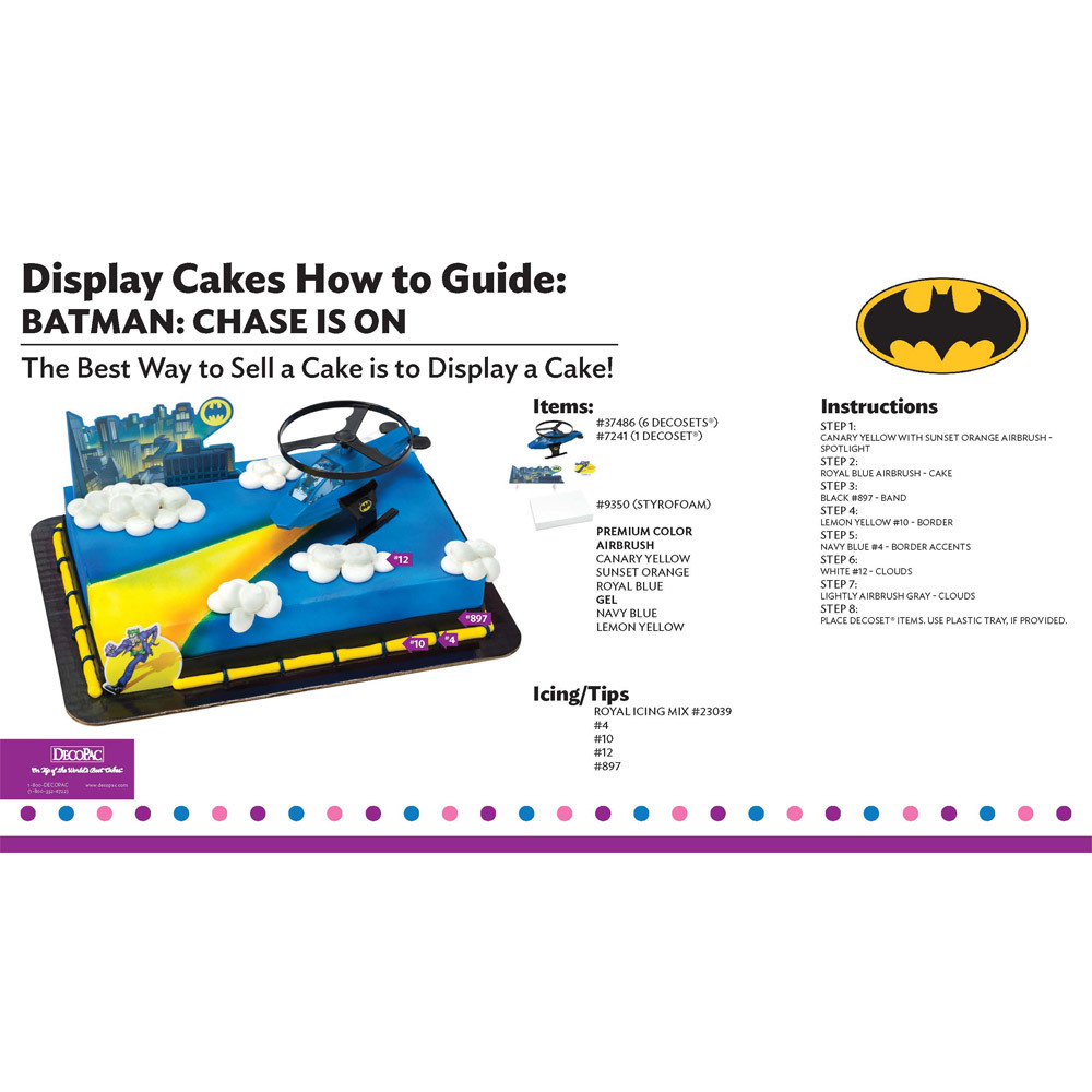 Batman Chase is on Display Cake Guide