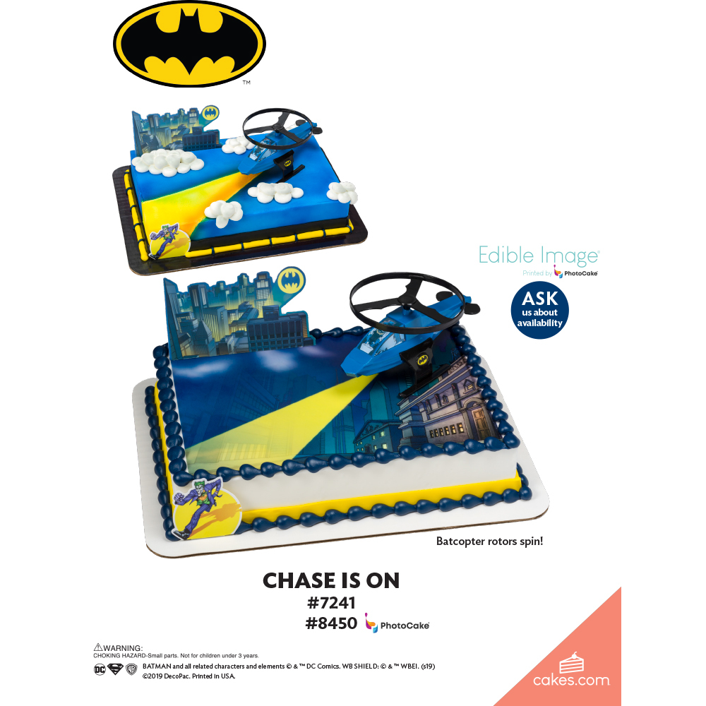Batman™ Chase is On The Magic of Cakes® Page