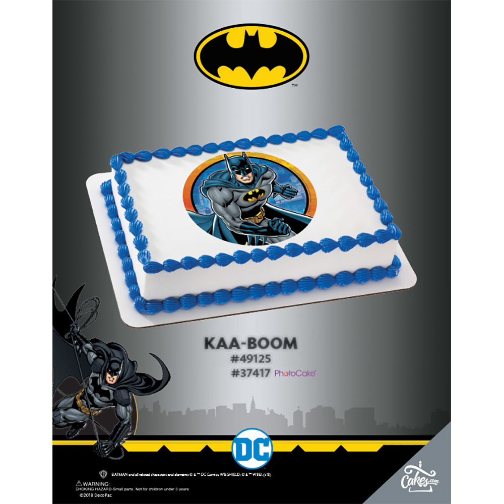 Batman KAA-BOOM PhotoCake®/Edible Image® The Magic of Cakes® Page