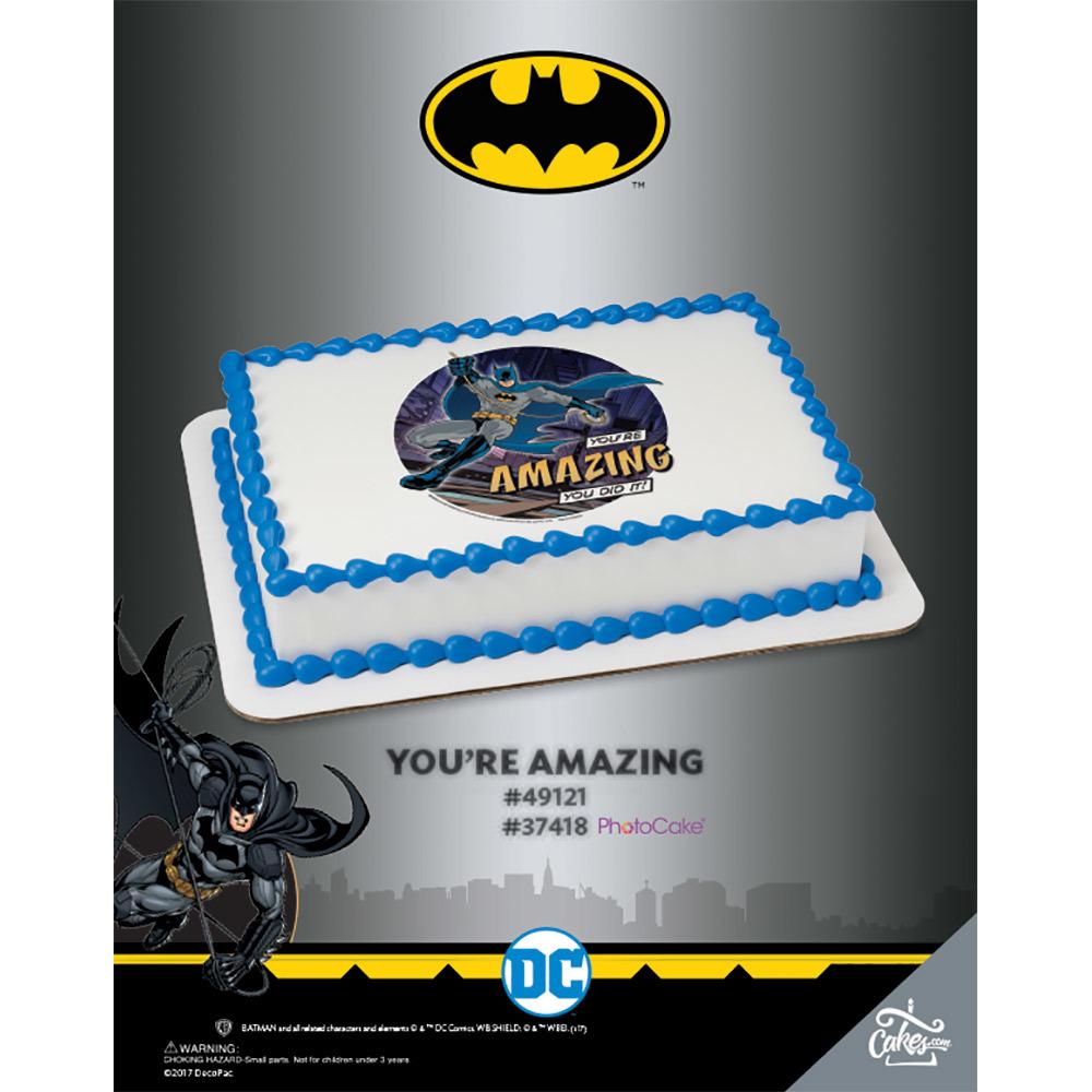 Batman You're Amazing PhotoCake®/Edible Image® The Magic of Cakes® Page